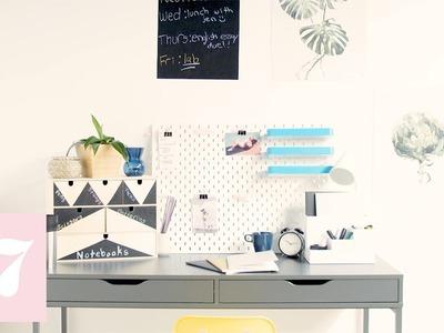 Décor to DIY For Dorm Edition: Desk Organization | Seventeen + Ikea