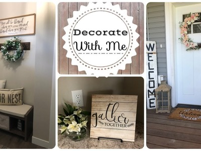 Decorate With Me | Farmhouse Decor | Summer 2018