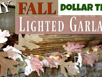 DIY Dollar Tree Fall Garland