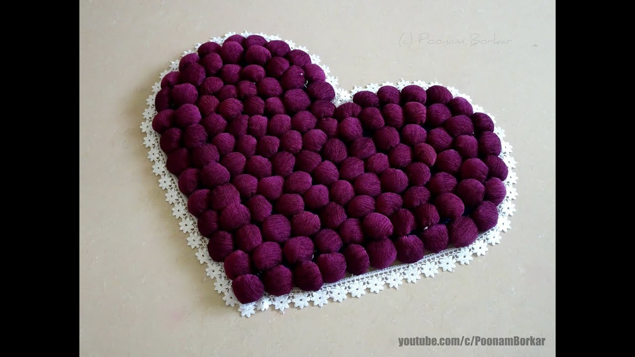 Diy Door Mat From Old Clothes Heart Shaped Table Mat