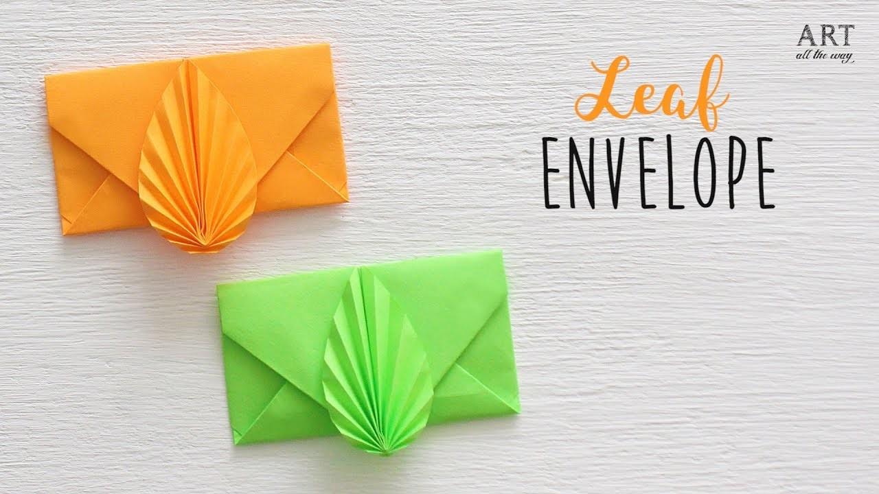 DIY: Leaf Envelope   Paper Envelope Making