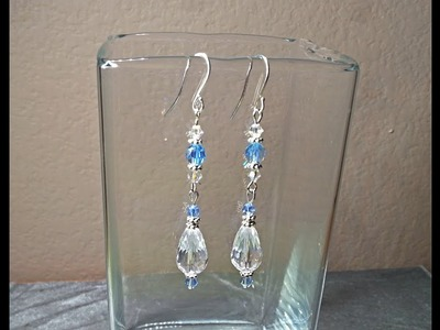 DIY~Make Elegant, Beautiful And Simple Icicle Earrings For Christmas!