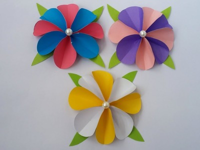 DIY: Paper Flower!!! How to Make Easy & Beautiful Paper Flower!!!