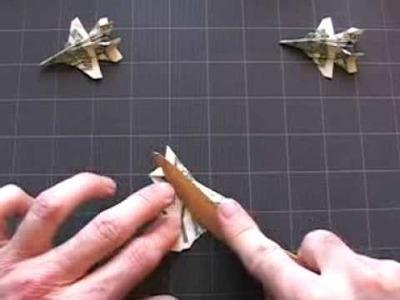 Dollar Origami F-18: Steps 4-8