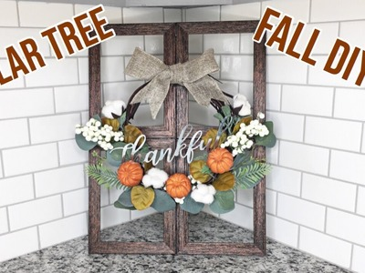 DOLLAR TREE FALL DIY! | Window Pane Wreath