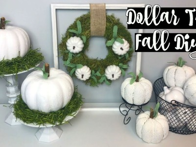 DOLLAR TREE FALL FARMHOUSE DIYS | 3 EASY IDEAS | CHIC ON THE CHEAP