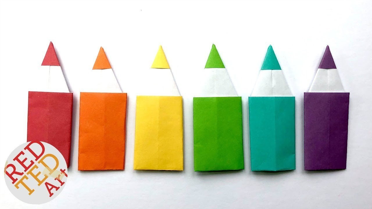 Easy Origami Pencil DIY - Paper Pencil Bookmark DIY