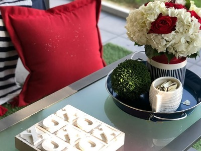 FIVE BUDGET FRIENDLY TIPS & IDEAS FOR DECORATING SMALL SPACES| PATIO REVEAL