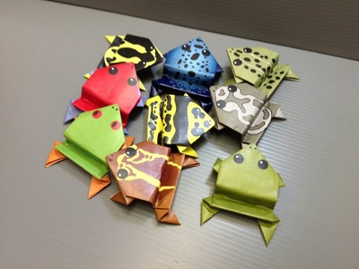 Free Origami Frog Paper -- Print Your Own! - Real Frogs of the World