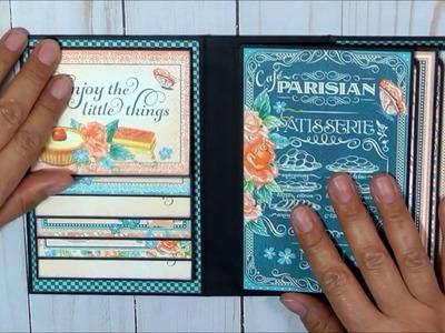 Graphic 45 Cafe Parisian Easy and Affordable Mini Album