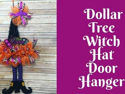 Halloween Crafts: Dollar Tree Witch Hat Door Hanger