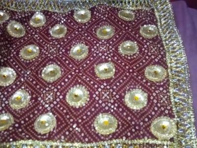How to decorate chunri at home. DIY.Dupatta Styles.Mata ki Chowki.Chunri for Mataji