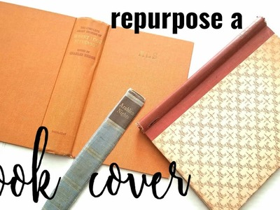 How to extend a book cover | Repurpose a Book Cover | Fly the Coop Friday