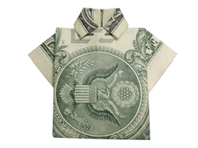 How to fold a Money Origami Shirt