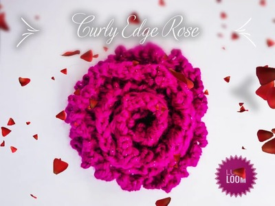 How to loom knit a Curly Edge Rose, tutorial,  step by step