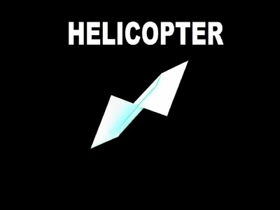 How to Make an Awesome Origami Windmill Helicopter