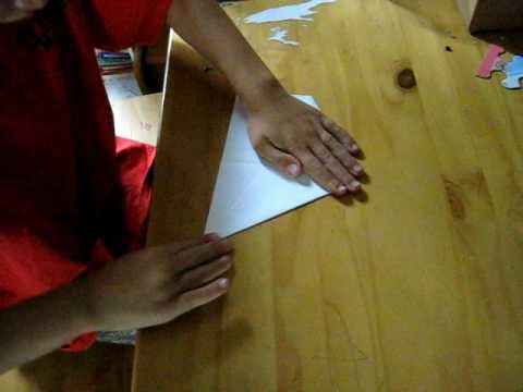 How to make an F14 paper airplane