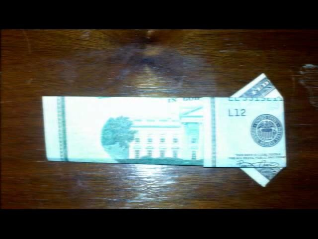 How To: Make Dollar T-Shirt Origami