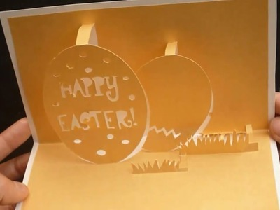 How To Make: Happy Easter's Pop-Up Card Tutorial - Template 1 of 2