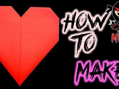 How to make: Origami Heart