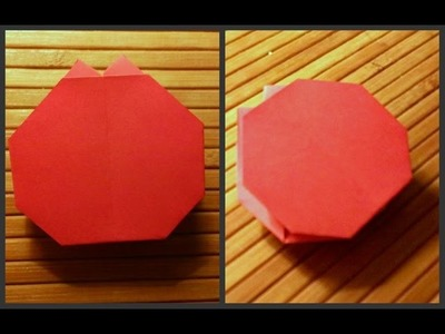 How to make origami tomato. Schemes of origami for children. Origami for Beginners