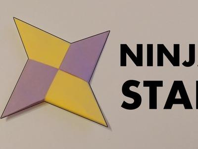 How to make Paper NINJA STAR diy