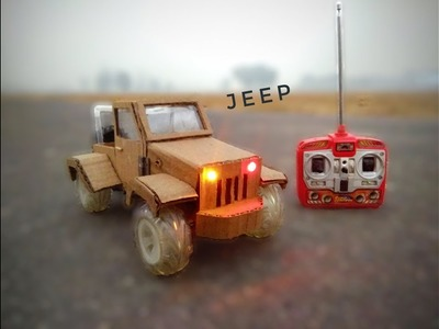 How to Make Remote Control Jeep using Cardboard