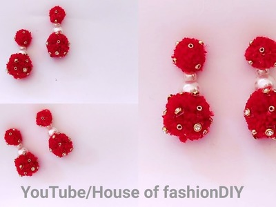 How To Make Thread Earrings.Party ware Earrings At Home. !