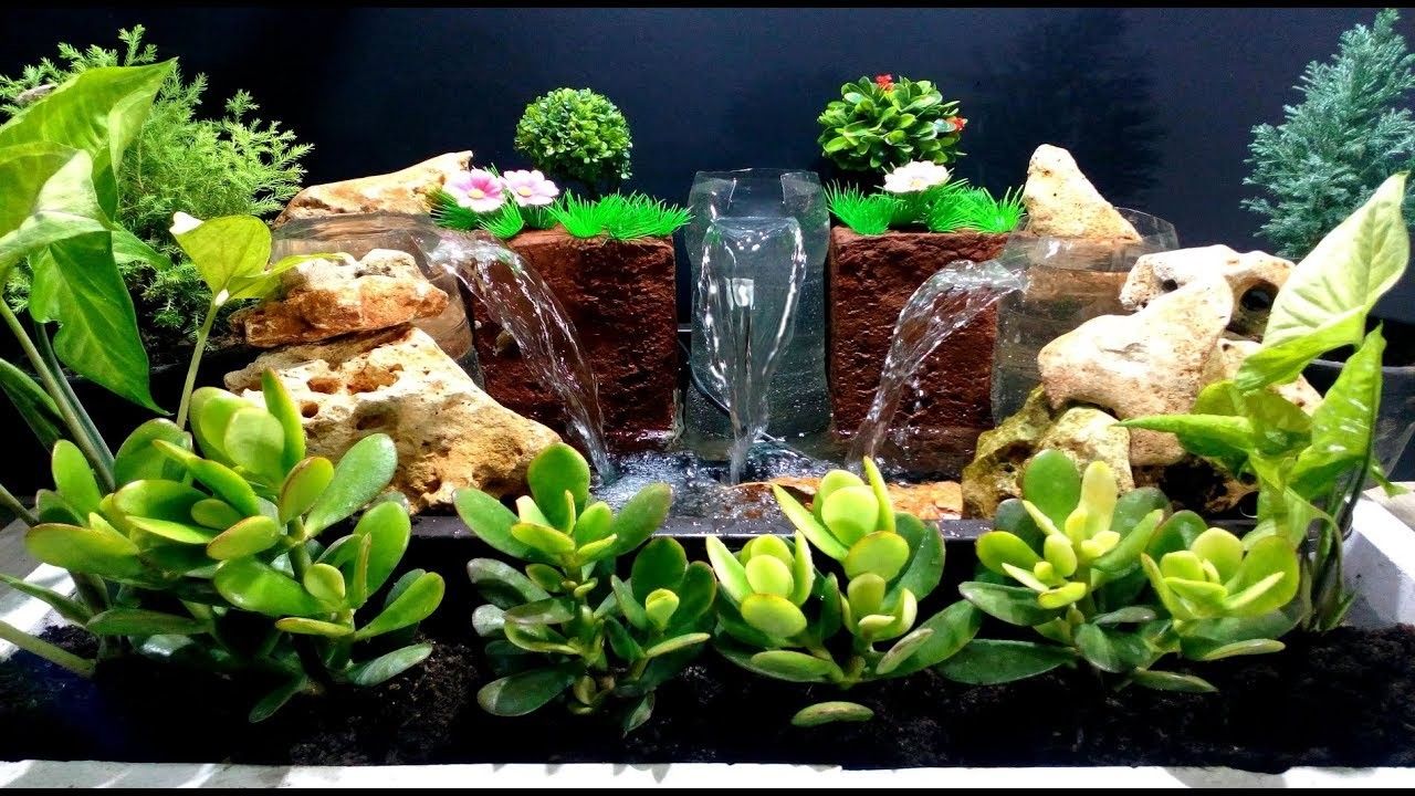 How to Make Triple Waterfall Fountain used plastic Bottles. DIY