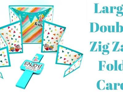 Large Double Zig Zag Card | Creative Card Series 2018
