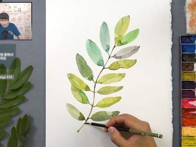 [LVL2] how to paint leaves easy in watercolor