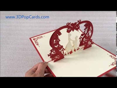 Marriage Proposal 3D Pop Up Greeting Cards on Birthday, Valentine, Engagement