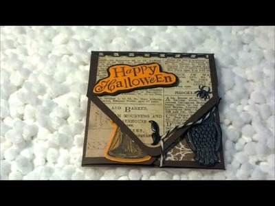 Mini Halloween Envelope Card - Tim Holtz Halloween and Michael's Recollections