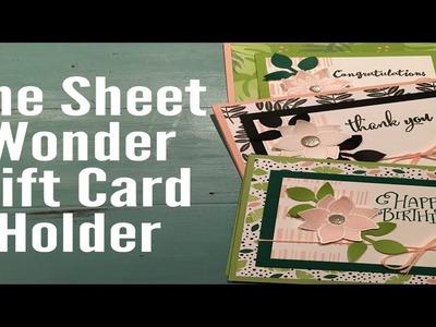 One Sheet Wonder 6x6 DSP Gift card holder