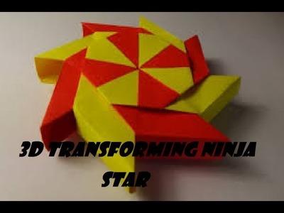 Origami 3D Transforming ninja star
