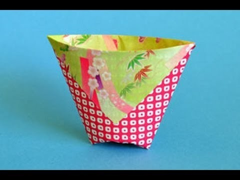 Origami Cup Instructions: www.Origami-Fun.com