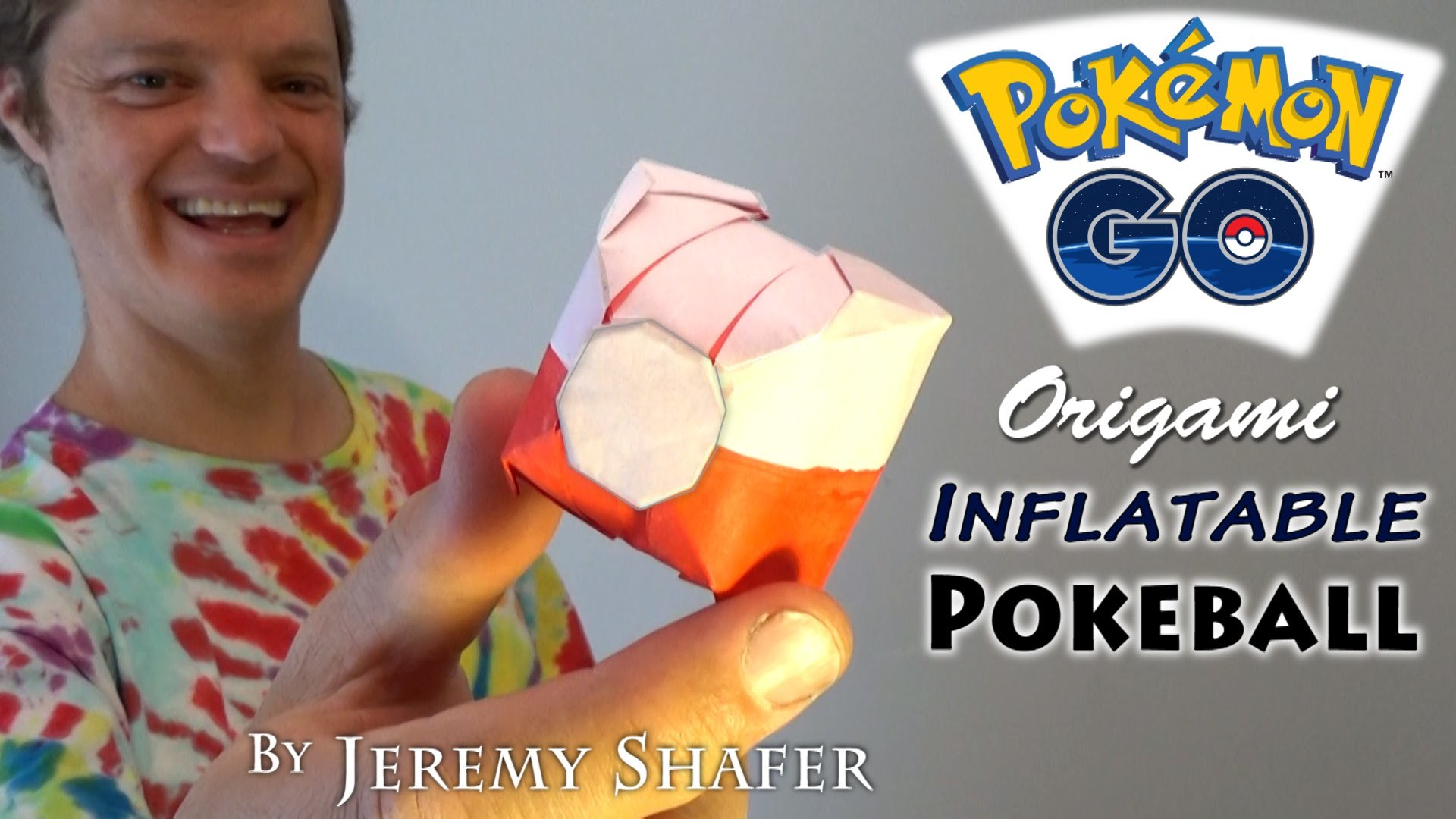 Origami Inflatable Pokeball