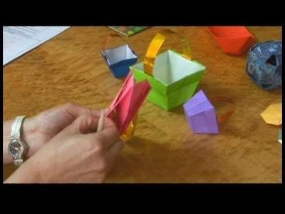 Origami Models : Origami Easter Basket Opening