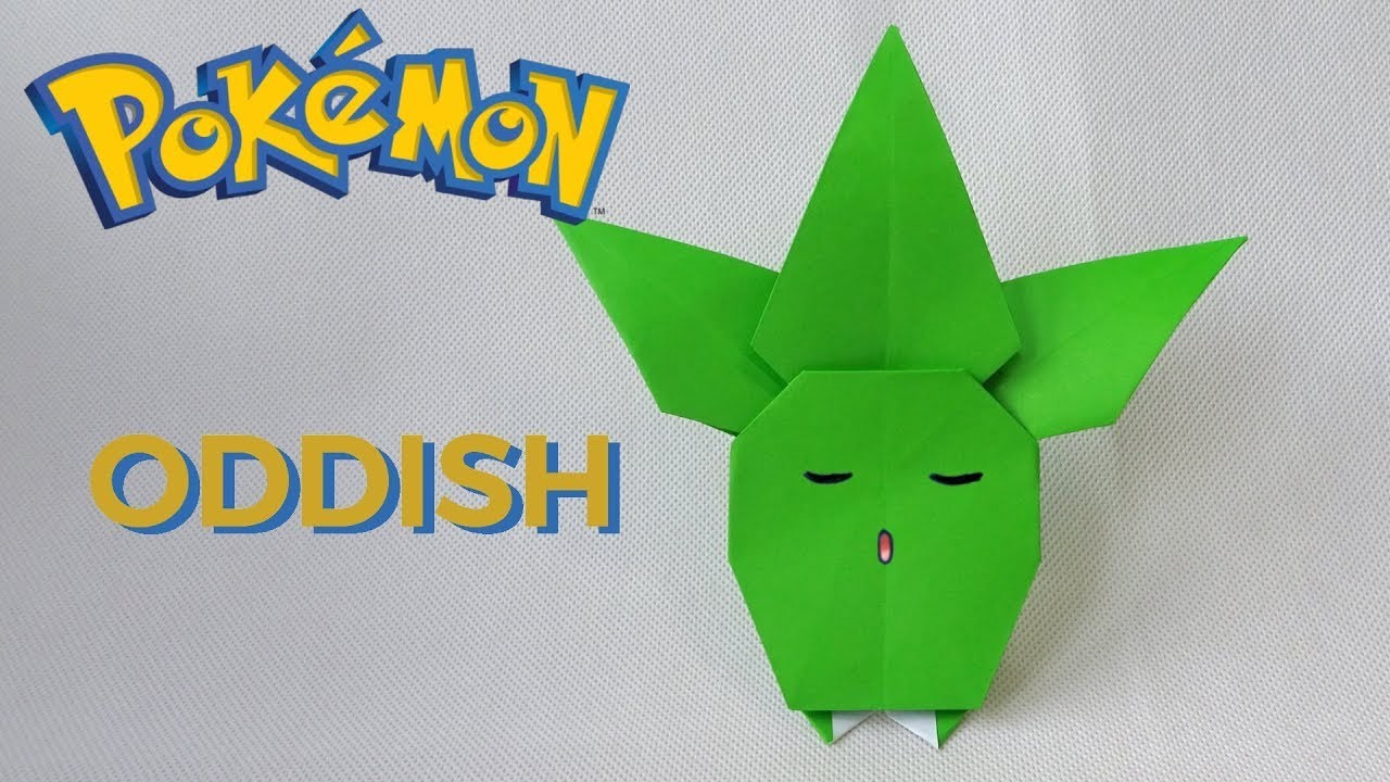 ORIGAMI POKEMON ODDISH (Anh Dao) - Diagram on