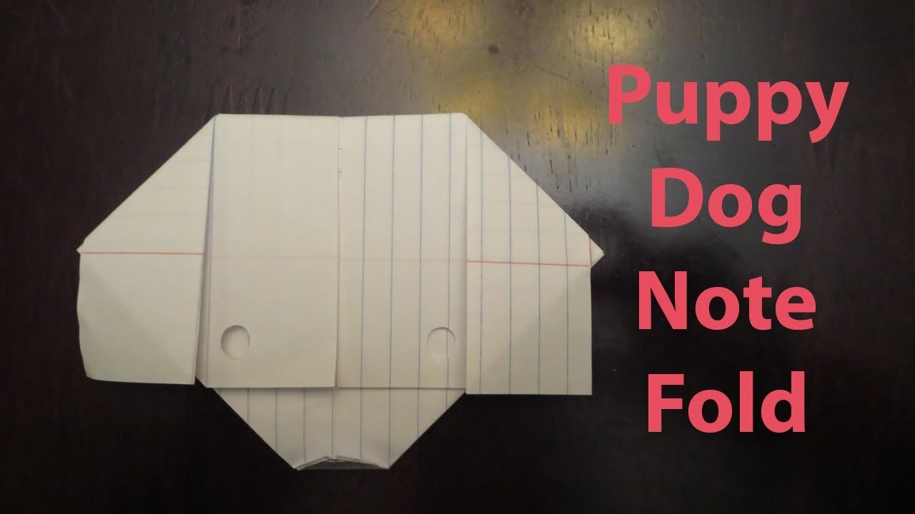 Origami Puppy Dog Note Fold