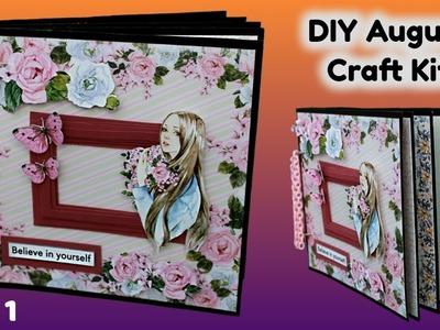 Part 1 - DIY August Craft Kit | DIY Scrapbooking Kit