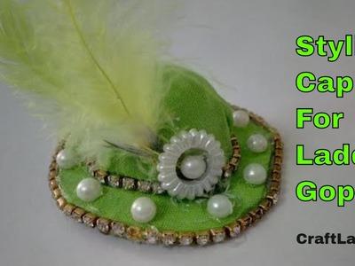 Stylish Summer Cap For Bal Gopal   CraftLas