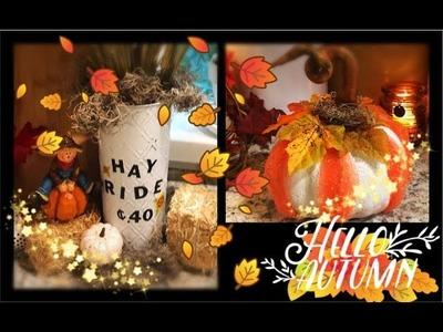 ~ 2 FALL DIY's - Dollar Tree Fall. Autumn Room Decor ~