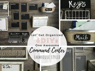 6 DIYs for Command Center | Dollar Tree DIY | Farmhouse Style | Ashleigh Lauren