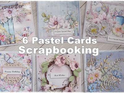 6 Pastel Scrapbooking Cards Class ♡ Maremi's Small Art ♡