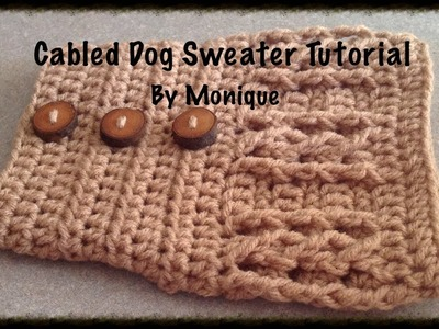 Cabled Dog Sweater Tutorial
