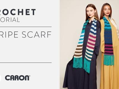 Caron x Pantone: Crochet Stripe Scarf