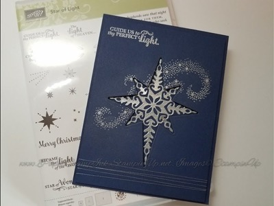 Christmas Card using Star of Light Stampin' Up!
