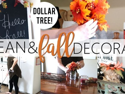 CLEAN AND FALL DECORATE WITH ME | DOLLAR TREE FALL DECOR 2018 | COSORI ELECTRIC KETTLE