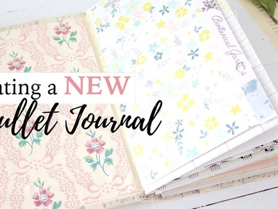 Creating a NEW Bullet Journal | For Beginners |